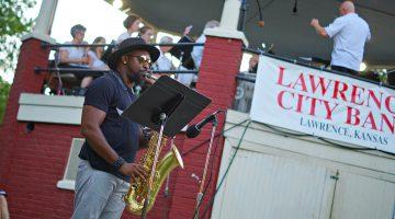 Ryan Kilgore and the Lawrence City Band / Photo by Fally Afani